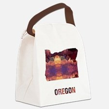 Cute Outline Canvas Lunch Bag