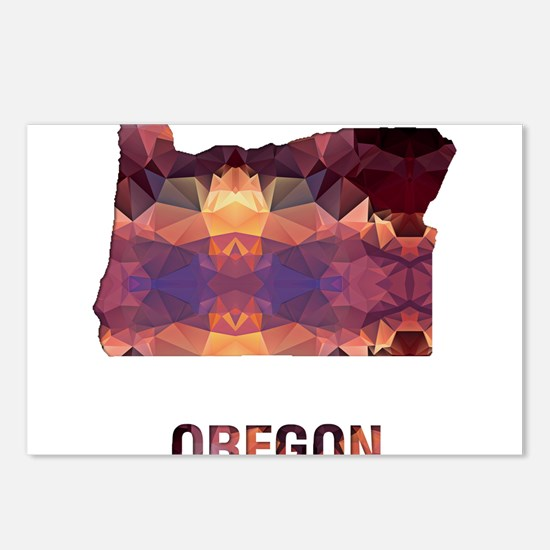 Mosaic Map OREGON Postcards (Package of 8)