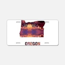 Mosaic Map OREGON Aluminum License Plate