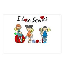 I Love Sewing Postcards (Package of 8)