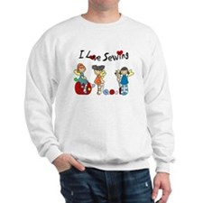 I Love Sewing Sweatshirt