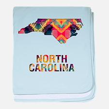 Mosaic Map NORTH CAROLINA baby blanket