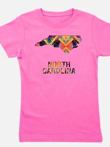 Mosaic Map NORTH CAROLINA Girl's Tee