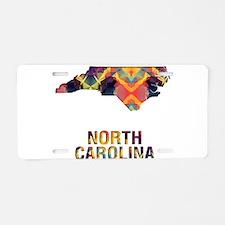 Mosaic Map NORTH CAROLINA Aluminum License Plate