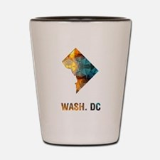 Mosaic Map WASHINGTON DC Shot Glass