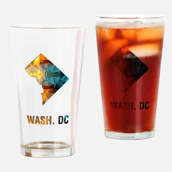Mosaic Map WASHINGTON DC Drinking Glass