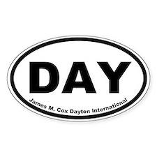 James M. Cox Dayton International Oval Decal