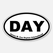 James M. Cox Dayton International Oval Decal