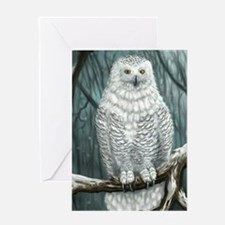 snowy owl Greeting Cards