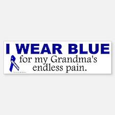 I Wear Blue For My Grandma's Pain Bumper Bumper Bumper Sticker