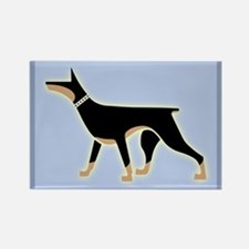 Dober Style Rectangle Magnet