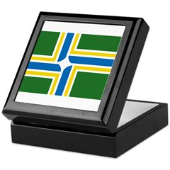 Portland Flag Keepsake Box