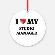 I love my Studio Manager Round Ornament