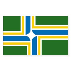 Portland Flag Rectangle Decal