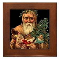 Christmas Santa Claus Art Framed Tile