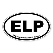 El Paso International Airport Oval Decal