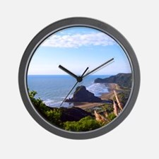 Piha Surf Beach NZ Wall Clock