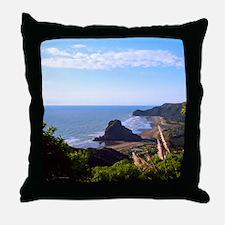 Piha Surf Beach NZ Throw Pillow