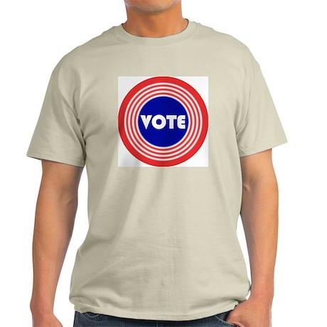 Groovy Retro Voting Bullseye Light T-Shirt