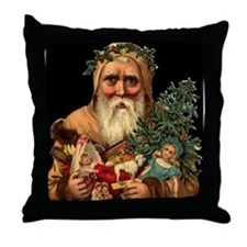 Christmas Santa Claus 18x18 BIG Throw Pillow