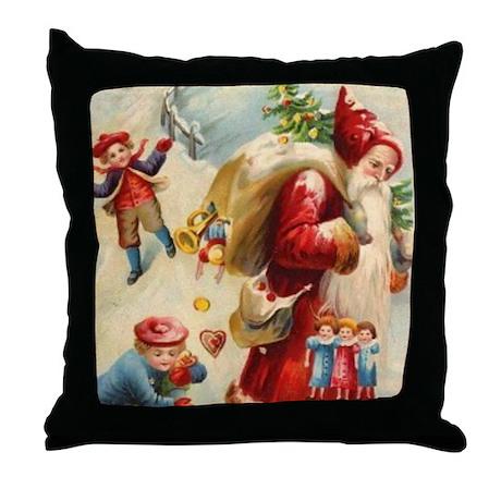 Christmas Santa Claus 18x18 BIG Throw Pillow