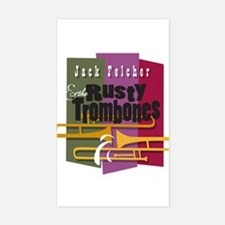 RUSTY TROMBONES Rectangle Decal