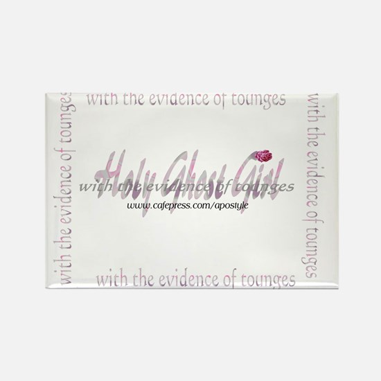 holy ghost girl Rectangle Magnet (100 pack)