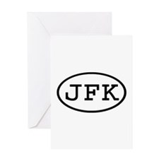JFK Oval Greeting Card