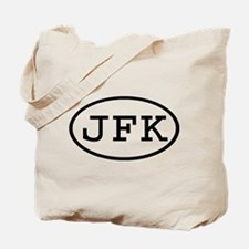 JFK Oval Tote Bag