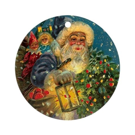 Christmas Santa Claus Pendant or Ornament (Round)