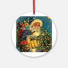 Christmas Santa Claus Pendant or Ornament (Round)