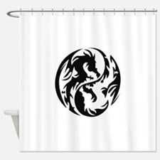 Tribal Dragons Shower Curtain