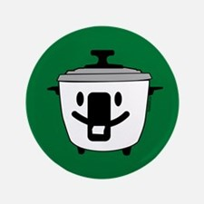 """The Happy Rice Cooker 3.5"""" Button"""