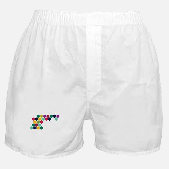 Colorful Honeycombs Boxer Shorts