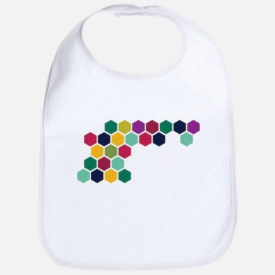 Colorful Honeycombs Bib