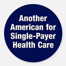 Single-Payer Round Car Magnet