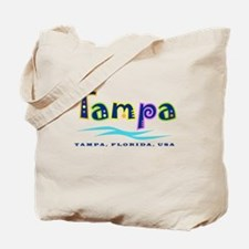 Tampa Tropical Type - Tote or Beach Bag