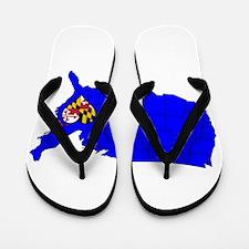 State of Maryland Flip Flops