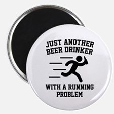"Beer Drinker Running Problem 2.25"" Magnet (10 pack"