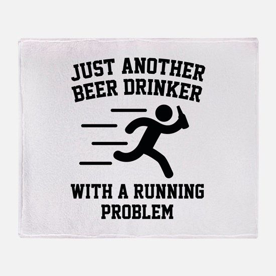 Beer Drinker Running Problem Stadium Blanket