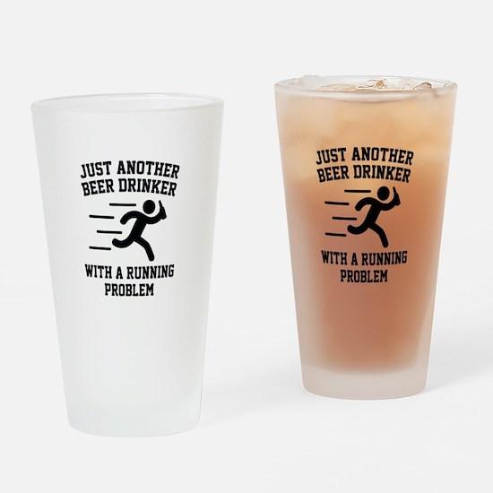 Beer Drinker Running Problem Drinking Glass