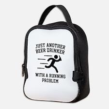 Beer Drinker Running Problem Neoprene Lunch Bag