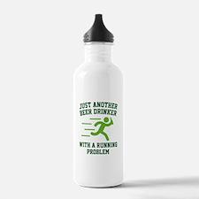 Beer Drinker Running Problem Water Bottle