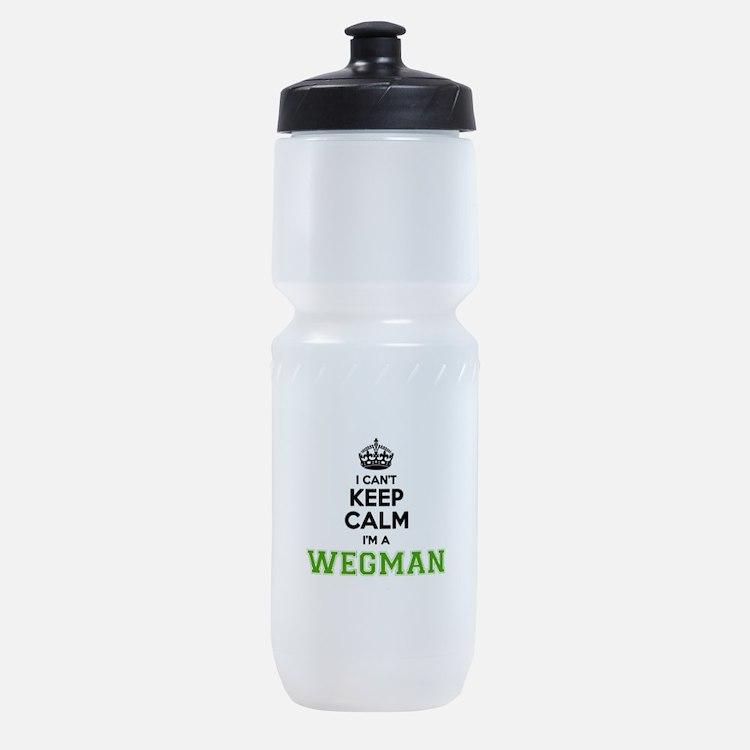 WEGMAN I cant keeep calm Sports Bottle
