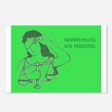 Nevertheless - green Postcards (Package of 8)