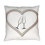 Celebrate wedding Burlap Pillows