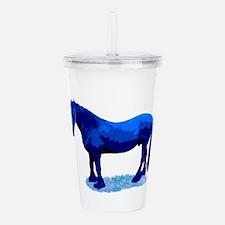 Blue horse Acrylic Double-wall Tumbler