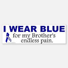 I Wear Blue For My Brother's Pain Bumper Bumper Bumper Sticker