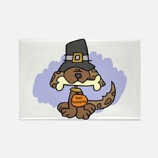 Thanksgiving Puppy Rectangle Magnet (10 pack)