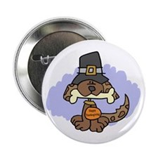 "Thanksgiving Puppy 2.25"" Button (10 pack)"